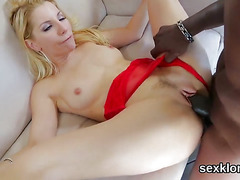 Pornstar hottie gets her butt hole poked with stiff dick
