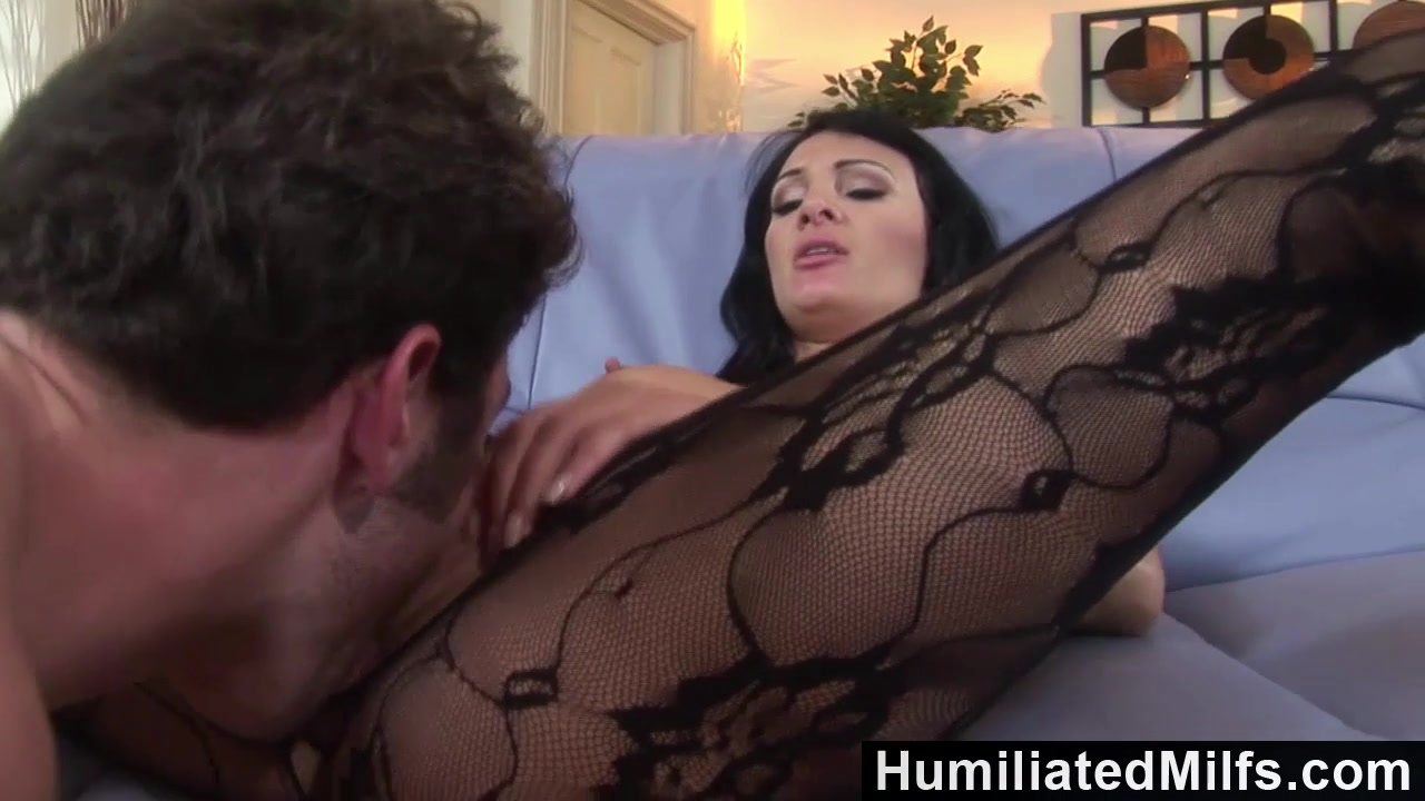 Humiliatedmilfs- big titted milf gets chocked while fucking.