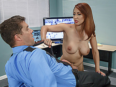 Big tits babe Isis Love fucks horny boss in the office