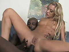 Anus of blonde Amy Brooke filled by huge black rod