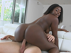 Ebony Babe Camille Amore Pussy Filled While Riding