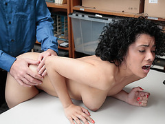 Maya agreed on the deal to fuck and suck officers big cock