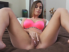 Sweet busty Latina Devyn Cole gets her wet hungry vagina banged in many poses