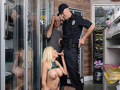 Luna Star blowjob Officer Sean Lawless thick cock