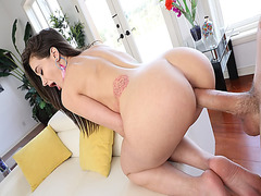 Monster cock stuffed in Gia Paige pussy from behind