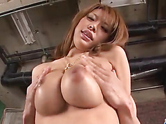 Japanese milf with huge tits, Haruka Sanada, loves fucking hard