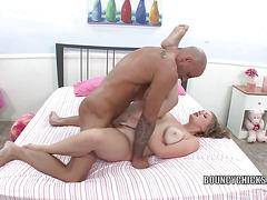 Aliysa Moore takes a big cock in her twat