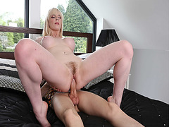 Carly Rae rides her sweet pussy on top like a cowgirl