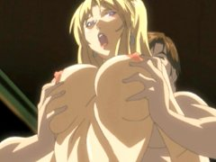 Busty hentai hot riding dick in the ritual sex