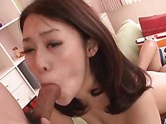 Deep threesome pounding along busty An Yabuki