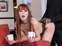 Ginger hoe Alexa Nova disciplined and anal fucked