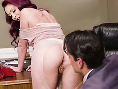 Sexy Monique Alexander gives her boss Ryan Driller an erotic sex