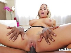 Pornstar sex kitten gets her anal hole drilled with fat penis