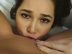 POV Homemade Lesbian Pussy Eating