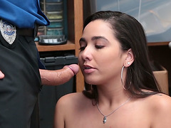 Hot fuck with shoplifter babe Karlee Grey