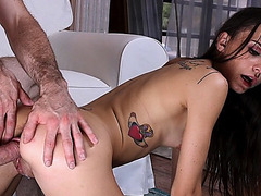 Bros best fuck Kharlie Stones pussy doggystyle