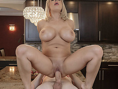 Milf riding her pussy on Alex Ds massive cock on top