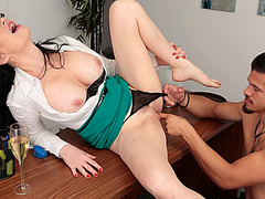 Angie got her frustrated wet pussy pounded