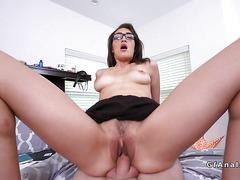 Latina girlfriend gets anal creampie