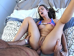 Cassidy Klein got her tight anal shook by a big meat