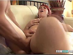 Hot redhead fucked hard