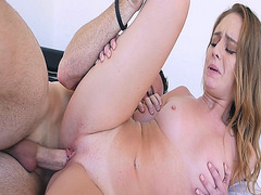 Daisy Stone got her tight shaved pussy railed
