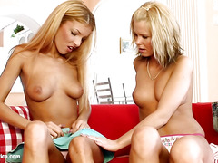 Livingroom Libido sensual lesbian scene by SapphiX