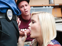 Shoplifter babe Madison Hart begs for freedom