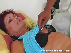 Horny Granny Complains About Her Stomach