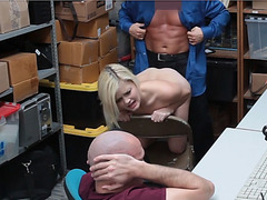 Blonde Madison and her bf caught shoplifting