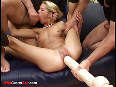 skinny german extreme anal gang banged