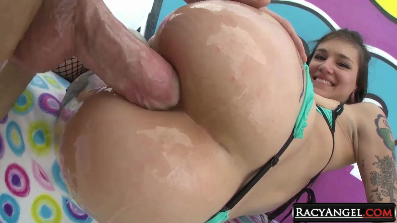 Lesbian babes licking each others ass