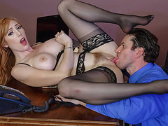 Lauren take Preston cock deep in her pussy and moans