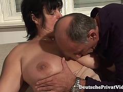 MILF gets her titties fucked