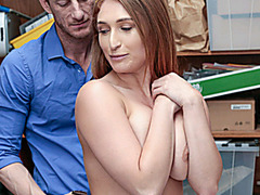 Skylar Snow The Shoplifter Is Punished In Front Of Her Mum