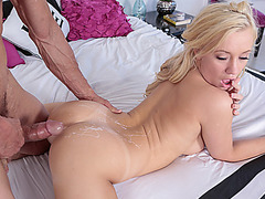 Horny babe Rylee Renee getting wet and wild for hard meat