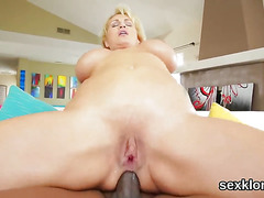 Pornstar bombshell gets her anal fucked with massive tool