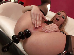Annette Schwarz is a nasty girl. Vanilla sex never enters onto her radar,