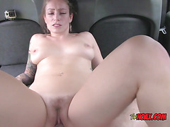 Busty Whore Ava Austen Enjoys Taxi Drivers Big Cock