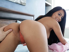 My Latina roomie loves a good dicking