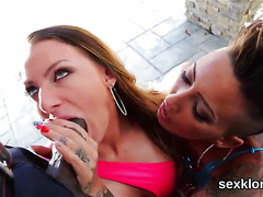 Pornstar bombshell gets her anal nailed with monster cock