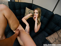 Harley Jade got a mouthful of step bros thick cock