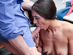 Lilly strip searched before an officer fucked her