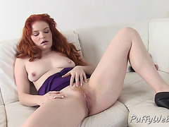 Redhead and Brunette Babes Masturbating