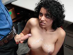 Maya Morena getting large manhood to drilled her cunt