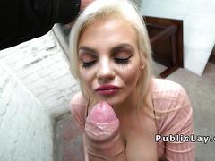 Uk hottie flashing huge boobs outdoor