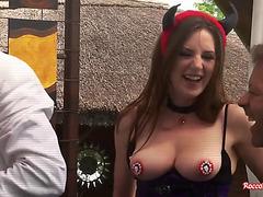 Wild FFM anal three-way sex
