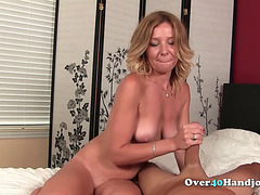 Slutty Mature Teasing Cock Until Cumshot