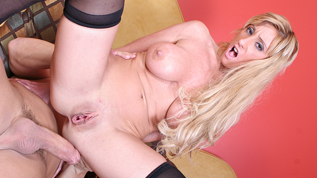 Busty milf gets huge cock