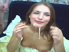 Ultimate whore is happy to taste mushroom tipped boners